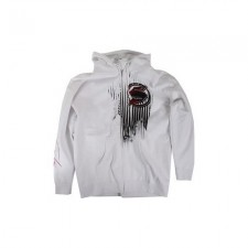 Кофта SLENDNECKS surigal zip up hoodie white мужская